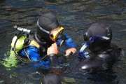 a scuba diving lesson in Monterey Bay, California