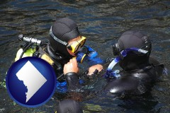 washington-dc a scuba diving lesson in Monterey Bay, California