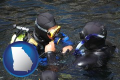 georgia a scuba diving lesson in Monterey Bay, California