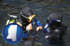 mississippi a scuba diving lesson in Monterey Bay, California