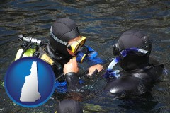 new-hampshire map icon and a scuba diving lesson in Monterey Bay, California