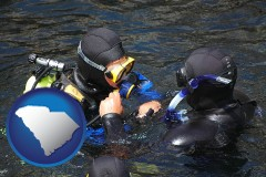 south-carolina a scuba diving lesson in Monterey Bay, California