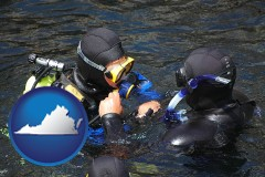virginia a scuba diving lesson in Monterey Bay, California