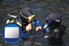 wyoming a scuba diving lesson in Monterey Bay, California