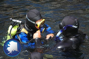 a scuba diving lesson in Monterey Bay, California - with Alaska icon