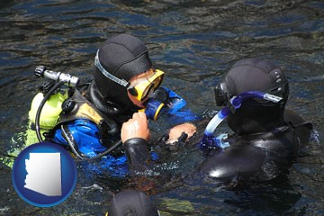 a scuba diving lesson in Monterey Bay, California - with Arizona icon