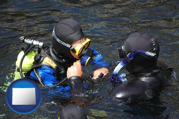 a scuba diving lesson in Monterey Bay, California - with Colorado icon