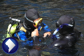 a scuba diving lesson in Monterey Bay, California - with Washington, DC icon