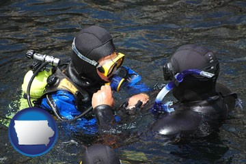 a scuba diving lesson in Monterey Bay, California - with Iowa icon