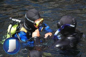 a scuba diving lesson in Monterey Bay, California - with Indiana icon