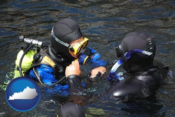 a scuba diving lesson in Monterey Bay, California - with Kentucky icon