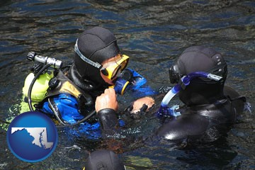 a scuba diving lesson in Monterey Bay, California - with Maryland icon