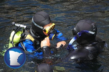 a scuba diving lesson in Monterey Bay, California - with Minnesota icon