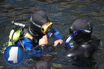 a scuba diving lesson in Monterey Bay, California - with Mississippi icon