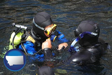 a scuba diving lesson in Monterey Bay, California - with Montana icon