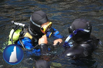 a scuba diving lesson in Monterey Bay, California - with New Hampshire icon