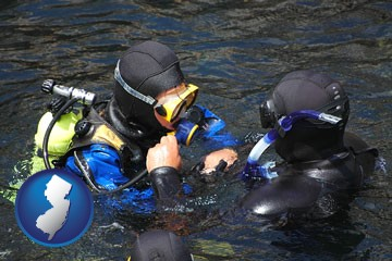 a scuba diving lesson in Monterey Bay, California - with New Jersey icon