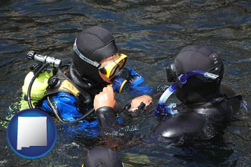 a scuba diving lesson in Monterey Bay, California - with New Mexico icon