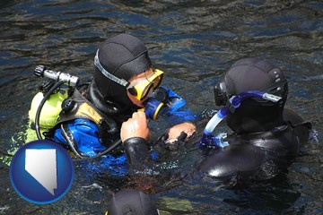 a scuba diving lesson in Monterey Bay, California - with Nevada icon