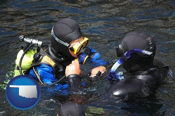 a scuba diving lesson in Monterey Bay, California - with Oklahoma icon