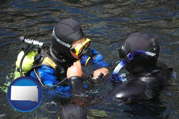 a scuba diving lesson in Monterey Bay, California - with South Dakota icon