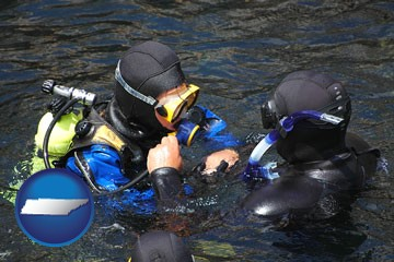 a scuba diving lesson in Monterey Bay, California - with Tennessee icon