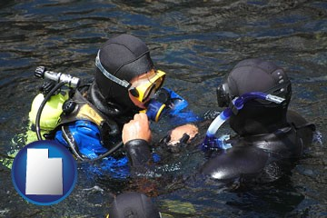 a scuba diving lesson in Monterey Bay, California - with Utah icon