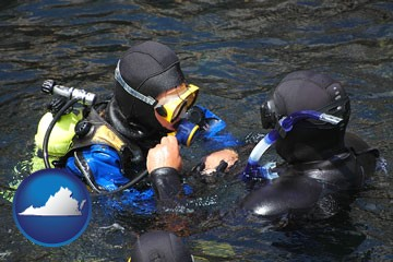 a scuba diving lesson in Monterey Bay, California - with Virginia icon